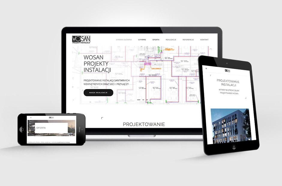 Strona Biura projektowego Wosan